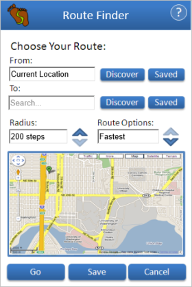 Mobile activity-tracking app